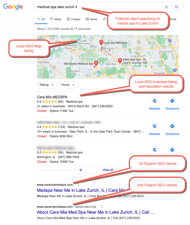 4 Good Examples of MedSpa Advertising - SEO example