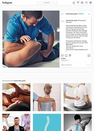 Instagram Posting App For Doctors Example 43 - Chiropractor