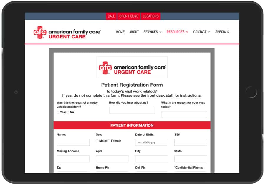 Digital Patient Registration For Medical Offices Example 10