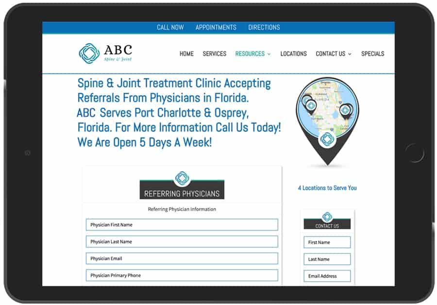 Medical Marketing Platform from PatientGain.com includes Physician to Physician Referral App