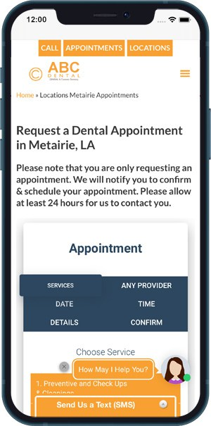 Example 2 - Dental customer using Texting app for communication along with Appointments app - ROI and Examples For Medical Marketing Texting Apps