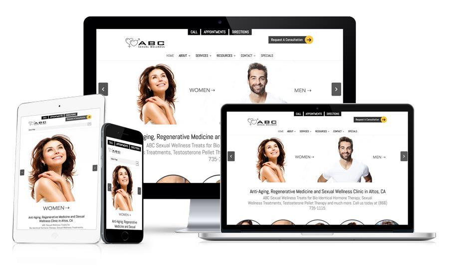 Example 2 - Medical Website Design