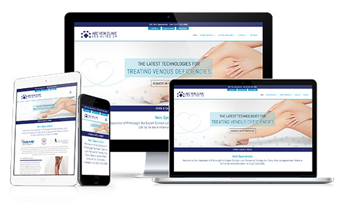 Request a presentation for vein clinic, laser treatment, sclerotherapy website and digital marketing