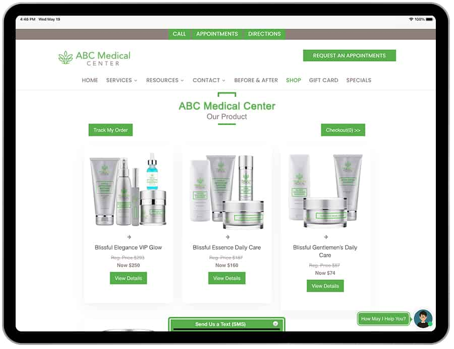 Ecommerce Apps For Medical Practices $199/mon